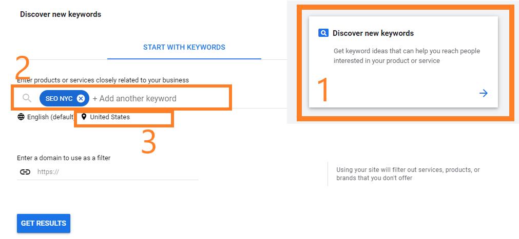 discover keyword field